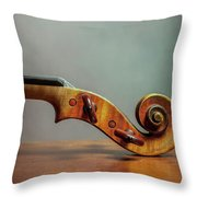 Violin Scroll Throw Pillow