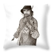Violinista Busker Vagabundo Throw Pillow