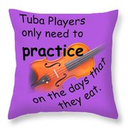 Violins Practice When They Eat Throw Pillow
