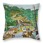 Virajpet Town Throw Pillow
