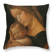 Virgin And Child 1470 Throw Pillow