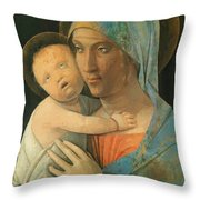 Virgin And Child 1495 Throw Pillow