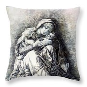 Virgin And Child Madonna Of Humility 1490 Throw Pillow