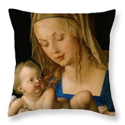 Virgin And Child With A Pear Throw Pillow