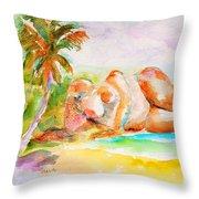 Virgin Cove Throw Pillow