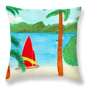 Virgin Island Memories Throw Pillow