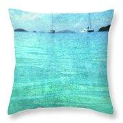 Virgin Islands Blues Throw Pillow