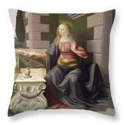 Virgin Mary, From The Annunciation Throw Pillow