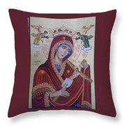 Virgin Mary Of Death Throw Pillow