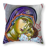 Virgin Of Tenderness Eleusa Throw Pillow