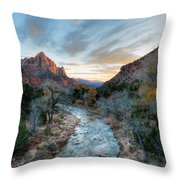 Virgin River And The Watchman Throw Pillow