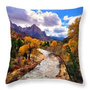 Virgin River Autumn Throw Pillow by Greg Norrell