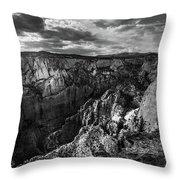 Virgin River Canyon, Zion National Park Throw Pillow