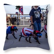 Virginia Beach Dogs  Throw Pillow