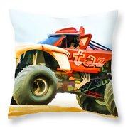 Virginia Beach Monster Truck Rally Throw Pillow