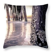 Virginia Beach Pier 2 Throw Pillow