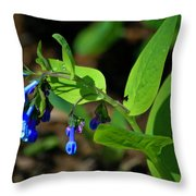 Virginia Bluebells Throw Pillow