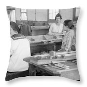 Virginia: Child Labor, 1918 Throw Pillow
