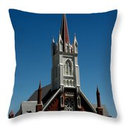 Virginia City Church St Mary Throw Pillow