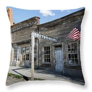 Virginia City Ghost Town - Montana Throw Pillow by Daniel Hagerman