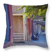 Bob's Place Virginia City Montana Throw Pillow