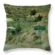 Virginia City Named After Henry Comstock Throw Pillow