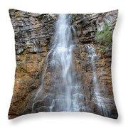 Virginia Falls - Glacier National Park Throw Pillow