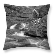 Virginia Falls Switchbacks Black And White Throw Pillow