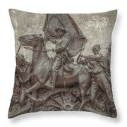 Virginia Monument Gettysburg Battlefield Throw Pillow