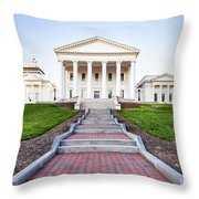 Virginia State Capitol Building Throw Pillow