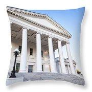 Virginia State Capitol Throw Pillow
