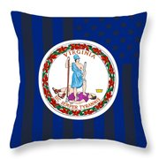 Virginia State Flag Graphic Usa Styling Throw Pillow