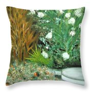Virginia's Garden Throw Pillow