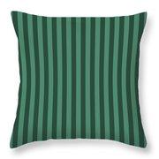 Viridian Green Striped Pattern Design Throw Pillow