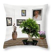 Virtual Exhibition -  Bonsai 13 Throw Pillow