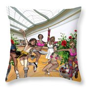 Virtual Exhibition - Dance Of Opening The Exhibition Throw Pillow