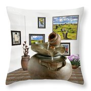 Virtual Exhibition - Source 33 Throw Pillow