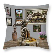 Virtual Exhibition - Source 34 Throw Pillow