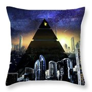 Virtual Law City Throw Pillow