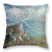 Virtual Mountain Throw Pillow