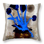 Virtually Blue Throw Pillow