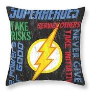 Virtues Of A Superhero 2 Throw Pillow