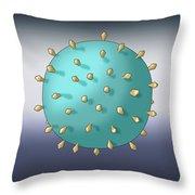 Virus Shape, Complex, Illustration Throw Pillow