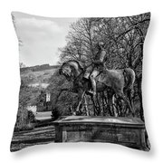 Viscount Gough On Horseback. Throw Pillow