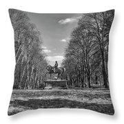 Viscount On Horseback. Throw Pillow