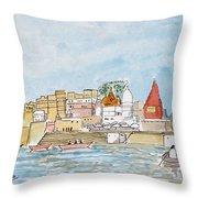 Vishweshwar Jyotirling Throw Pillow