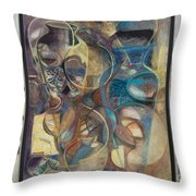 Visible Traces Throw Pillow