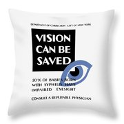 Vision Can Be Saved - Wpa Throw Pillow