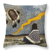 Vision Into Another World Throw Pillow