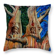 Vision Of The Ancient Pine Throw Pillow